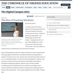 The Rise of Teaching Machines - The Digital Campus