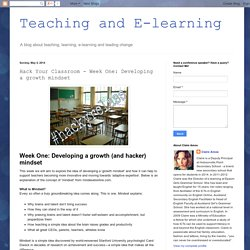 Hack Your Classroom - Week One: Developing a growth mindset