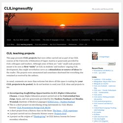 CLIL teaching projects
