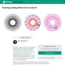 Teaching Coding: Where Do You Start?