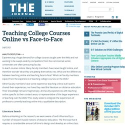 Teaching College Courses Online vs Face-to-Face