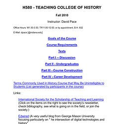Teaching College History index