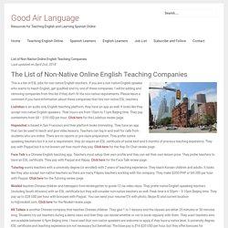 List of Non-Native Online English Teaching Companies - Good Air Language