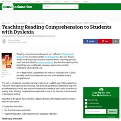 Teaching Reading Comprehension to Dyslexic Students