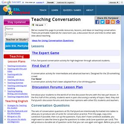 Teaching ESL and English Conversation lessons. ESL Question and Conversation Cards and Lessons