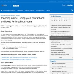 Teaching online - using your coursebook and ideas for breakout rooms