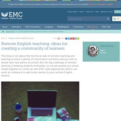 Remote English teaching: ideas for creating a community of learners