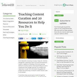 Teaching Content Curation and 20 Resources to Help You Do It - InformED
