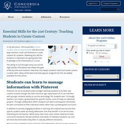 Teaching Content Curation Skills to Students