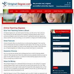 Teaching Degrees Online - Original-degree.com