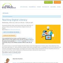 Teaching Digital Literacy