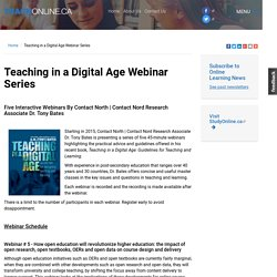 Teaching in a Digital Age Webinar Series