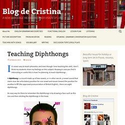 Teaching Diphthongs