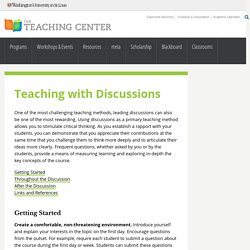 Teaching with Discussions