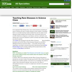 Teaching Rare Diseases in Science Class
