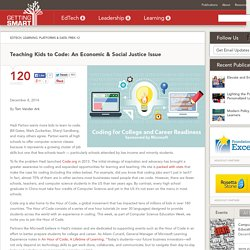 Teaching Kids to Code: An Economic & Social Justice Issue