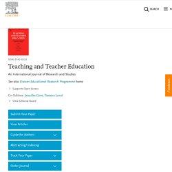 Teaching and Teacher Education WoS Q1 Scopus