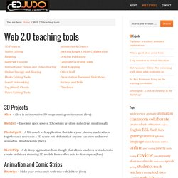 Web 2.0 teaching tools to enhance education and learning — Edjudo