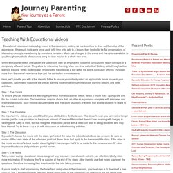 Teaching With Educational Videos - Journey Parenting