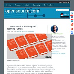 Teaching Python and more with open educational resources