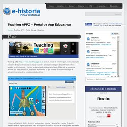 Teaching APPZ – Portal de App Educativas- Un portal de historia y TIC
