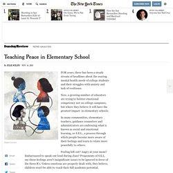 Teaching Peace in Elementary School