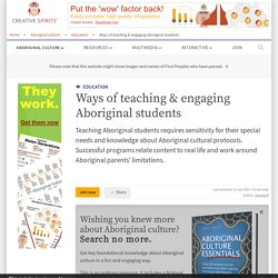 Teaching Aboriginal students - Creative Spirits
