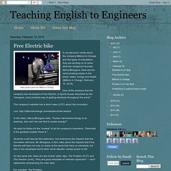Teaching English to Engineers: Free Electric bike
