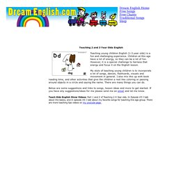Teaching 2 to 3 Year Olds English, free songs, flashcards and more