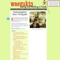 Teaching English in Korea – the big guide