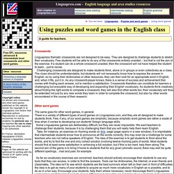Linguapress - Teaching English with puzzles and word games