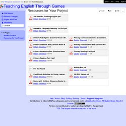 Teaching English Through Games - Resources for Your Porject