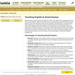 Teaching English to Small Classes