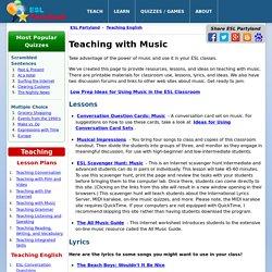 Teaching ESL with Music