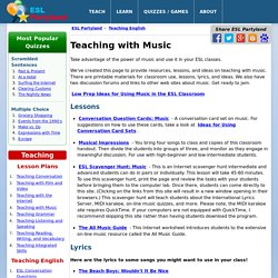 Teaching ESL with Music