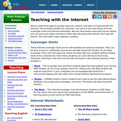 Teaching ESL with the Internet