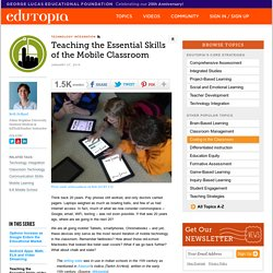 Teaching the Essential Skills of the Mobile Classroom