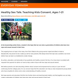 Healthy Sex Talk: Teaching Kids Consent, Ages 1-21
