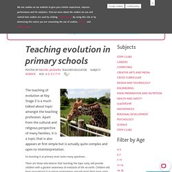 Teaching evolution in primary schools