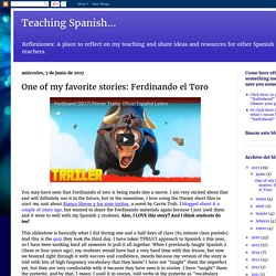 One of my favorite stories: Ferdinando el Toro