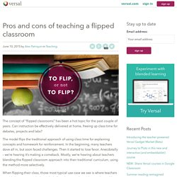 Pros and cons of teaching a flipped classroom