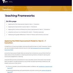 Teaching Frameworks