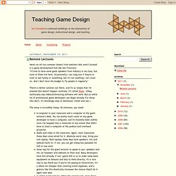 Teaching Game Design