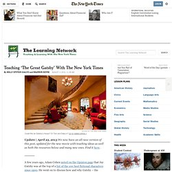 Teaching 'The Great Gatsby' With The New York Times