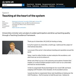 Teaching at the heart of the system - Speeches