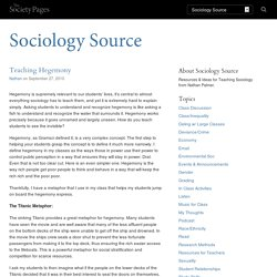 Teaching Hegemony - Sociology Source