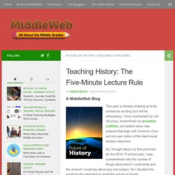 Teaching History: The Five-Minute Lecture Rule
