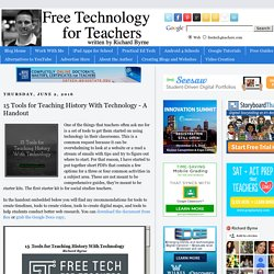 15 Tools for Teaching History With Technology - A Handout
