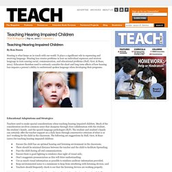 Teaching Hearing Impaired Children