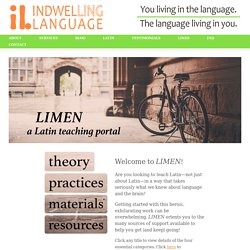 LIMEN - a Latin teaching portal - Indwelling Language